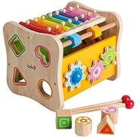 図形でXylophoneミラーおもちゃの周りビーズクリスマスギフトCount Roller Coaster GearノックピアノToy for Kids