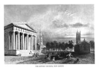 New Haven、コネチカット州–の外部のビューゴシック教会 24 x 36 Giclee Print LANT-26302-24x36