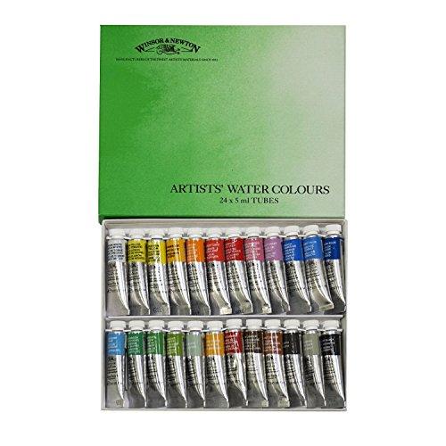 ウィンザー&ニュートン 水彩絵具 ウィンザー&ニュートン プロフェッショナル ウォーターカラー 24色セット 5ml