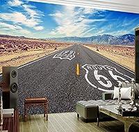 Ywwz&N カスタム3D壁紙壁画青空ハイウェイ背景壁絵画リビングルーム家の装飾写真壁紙PapelデParede-350X250Cm