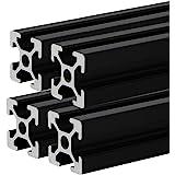 4 Pcs 2020 CNC 3D Printer Parts European Standard Anodized Linear Rail Aluminum Profile Extrusion for DIY 3D Printer (400mm)