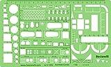 メトリック1: 50スケール建築Architect図面テンプレートステンシル–テクニカル製図Supplies–家具記号の家Interior平面図デザイン