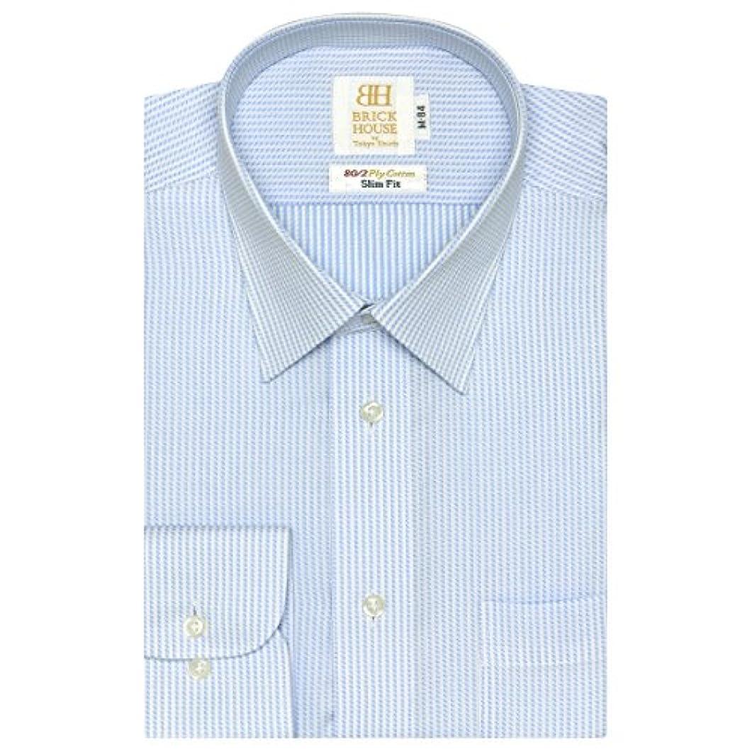 ワゴンガラガラブラザーブリックハウス ワイシャツ 長袖 形態安定 レギュラー 綿100% スリム メンズ BM018100AA11R4A-10
