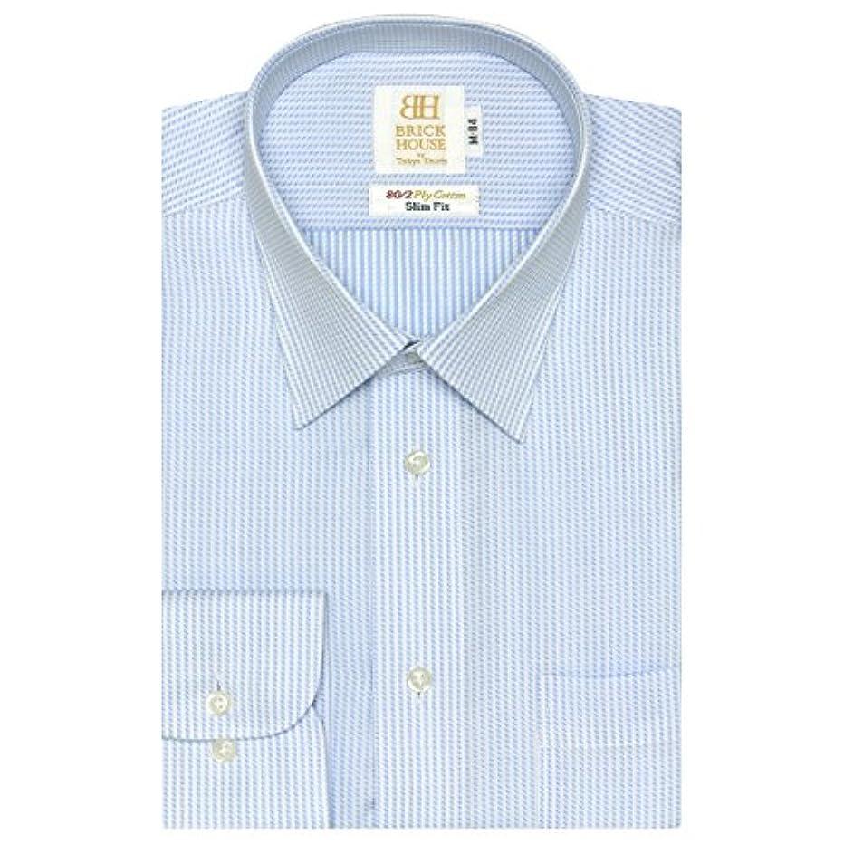 委員長非アクティブ強盗ブリックハウス ワイシャツ 長袖 形態安定 レギュラー 綿100% スリム メンズ BM018100AA11R4A-10