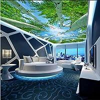 Mingld リビングルームの寝室のためのカスタム3D写真の壁の壁画の壁紙非編まれたシルクの壁紙ロール天井のための自然林-120X100Cm