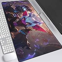 大規模なゲームマウスマット、キーボード、PCやラップトップのための滑り止めラバーベース理想と滑らかな表面大型デスクパッド (色 : K, Size : 300X800X3mm)