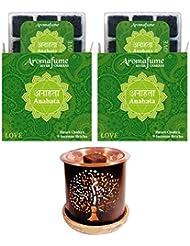 aromafume 7 Chakra Incense IncenseレンガDiffuser グリーン
