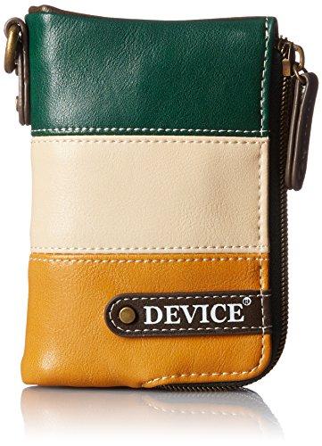 [デバイス] トリコ ダブルジップ折財布 DPG70038 GRMA グリーンマスタード