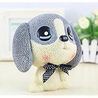マネー バンク 新しい樹脂漫画犬のピギーバンククリエイティブ子供の誕生日プレゼントホームデコレーション(グレー)