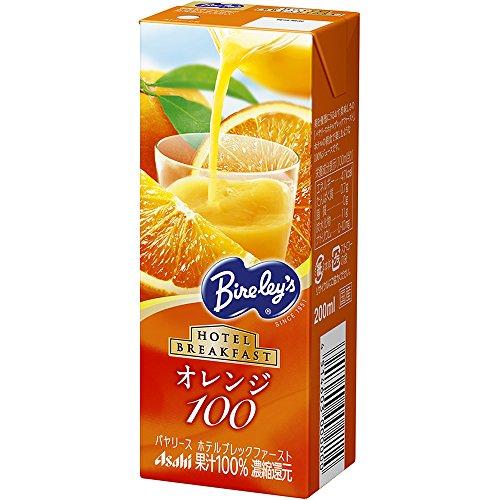 バヤリース HBF オレンジ100 ケース 200ml×12