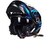 X.N.S(希望)(23色可選) LS2-370 バイクヘルメット フルフェイスヘルメット システムヘルメット モンスターエナジー ダブルシールド ジェット ヘルメット (XL, 商品9)