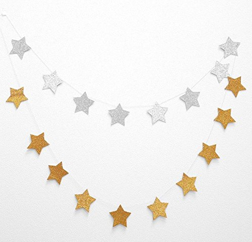 星 ガーランド 約3m (表ゴールド&裏シルバー)