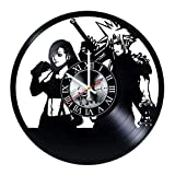 Final Fantasy Vinyl Record Wall Clock - Get Unique Bedroom or livingroom Wall Decor - Gift Ideas for Boys and Girls Perfect Element of The Interior Unique Modern Art