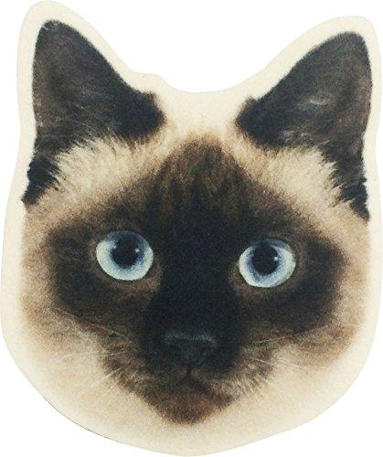 コースター アニマルマスク シャム 猫 11×10×0.3cm 1882