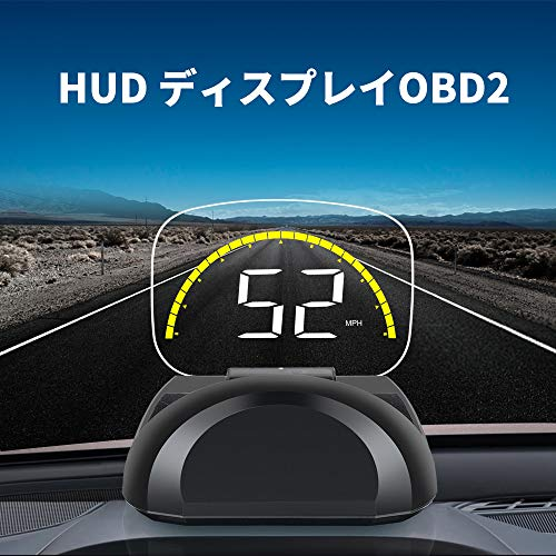 HUD ヘッドアップディスプレイ OBD2 EUOBD LC...