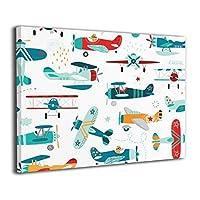 絵画家族 飛行機 ヘリコプター フレームレスペインティング モダン絵画 油絵 水彩画 現代絵画 アートパネル 壁飾り 壁掛け 風景 自然 動植物 玄関 インテリア 贈り物 お洒落