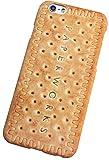 [BoRaThing] iPhoneケース カバー リアル 個性的 ポリカーボネート ハード 肉 サーモン 鮭 白菜 スイカ 西瓜 インスタント麺 ラーメン ビスケット クッキー おもしろ 食玩 食品サンプル アイフォン ( iPhone 5/5s/SE/6/6 Plus/6s/6s Plus/7/7 Plus )(iPhone 6/6s , C2-ビスケット)