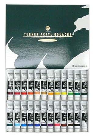 ターナー色彩 アクリルガッシュ 24色スクールセット AG24C 11ml