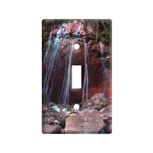 赤エル・ユンケ熱帯雨林の滝プエルトリコ Light スイッチプレートカバー