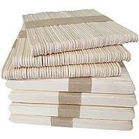 KINGLAKE 300本入 木製 アイススティック棒 (アイスキャンディー棒) 長114mmx巾10mm いろんな芸術品や作品を作り用に 他の木製工芸品