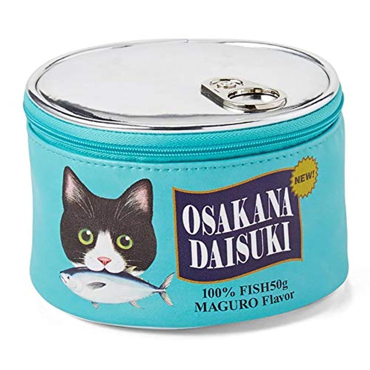 植木置くためにパックジョットディボンドンYIGO 化粧ポーチ 猫 ねこ 魚の缶詰 設計 可愛い メイクポーチ バッグ 化粧バッグ 財布 大容量 化粧品収納 小物入れ おしゃれ グリーン
