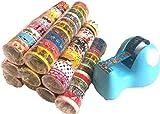 マスキングテープ かわいい絵柄 テープ台付き 大量セット イラスト多数 (c 100巻)