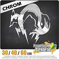 Fox Hound - 3つのサイズで利用できます 15色 - ネオン+クロム! ステッカービニールリアウインドウ