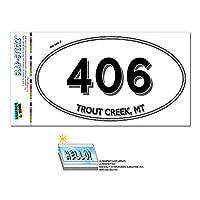 406 - マス Creek, MT - モンタナ - 楕円形市外局番ステッカー