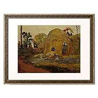 ポール・ゴーギャン Eugène Henri Paul Gauguin 「黄色い積みわら Strohhaufen (Les meules jaunes). 1889.」 額装アート作品