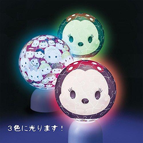 60ピース 光る球体パズル パズランタン ディズニー ツムツム-ミニーマウス-