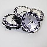 Mercedes-Benz メルセデス・ベンツ純正 センターキャップ ハブキャップ クロム/ブルー ローレルリース