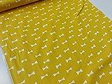 リボンシルエット イエロー黄色 オックス生地 γ|かわいい |北欧風|安い|服地| ソーイング