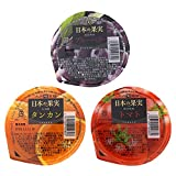 【九州旬食館】 日本の果実 お試しセット 九州産 ゼリー 155g× 3個( タンカン ブルーベリー トマト ) 詰め合わせ セット
