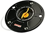 ACCOSSATO(アコサット) アルミ フューエルタンクキャップ Ver.3 カワサキ Z1000(03-06) ZX-10R(04-05) ZZR1200他 ゴールド