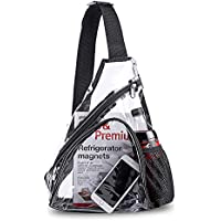Clear PVC Sling Bag - Stadium Approved Transparent Shoulder Crossbody Backpack for Women & Men,Perfect for Work, Travel, Stadium and Concerts