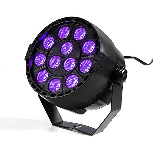 TECKEPIC ブラックライト12個LED紫外線ライト 音...