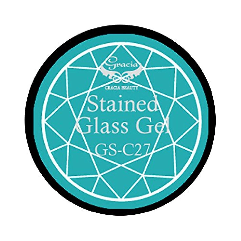 検索メールを書くホーングラシア ジェルネイル ステンドグラスジェル GSM-C27 3g  クリア UV/LED対応 カラージェル ソークオフジェル ガラスのような透明感