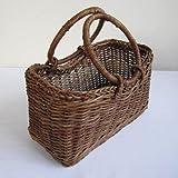 あけびのバッグ:台形型リング手 中