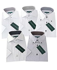 グリニッジ ポロ クラブ 半袖ワイシャツ 5枚セット 形態安定 豊富な7サイズ pfs 022-M