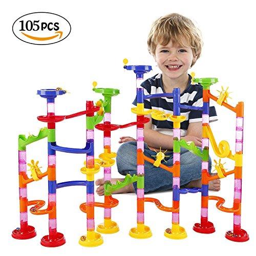 ビーズコースター WloveTravel 子ども おもちゃ 知育玩具 迷路 組み立て くるくる 3歳以上 子供想像力と創造力を育てる建設玩具