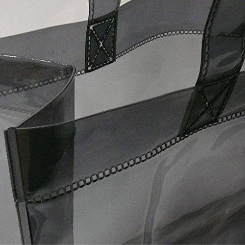 透明ビニールバック ブラック Mサイズ