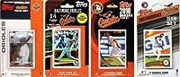 C&I収集品ORIOLES411TS MLBオリオールズ4つの異なるライセンス・トレーディングカードチームセット