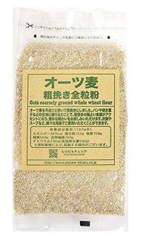 パイオニア オーツ麦 粗挽き 全粒粉 200g