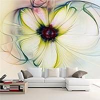 Lwcxフォト壁紙壁用3dモダンアート抽象花柄壁紙ロールベッドルームリビングルームソファベッド美しい花 FEAF565287