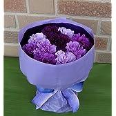 【母の日限定】 母の日はやっぱりカーネーション・パープル系カーネーションの花束:ムーンダストmix: