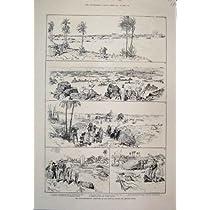 1885 のナイルのスケッチの入口の出口の Hannock の激流の印刷物