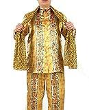(LuluLAB) ピコ太郎 衣装 コスプレ コスチューム 3点セット ( 衣装上下 ストール ) (M)
