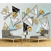 抽象的な幾何学的な壁画の壁紙、リビングルームのソファの3 D写真の壁紙テレビの背景大理石の壁紙ロール280 cm(W)x 180 cm(H)