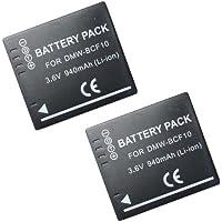 【JC】 2個セット Panasonic/パナソニック DMW-BCF10 互換バッテリー DMC-FT3 DMC-FT4 対応