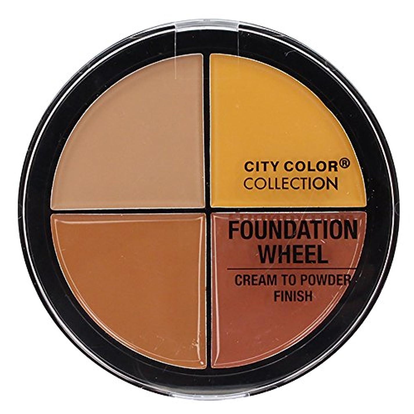 その他アレンジ紫のCITY COLOR Foundation Wheel - Medium to Deep (並行輸入品)